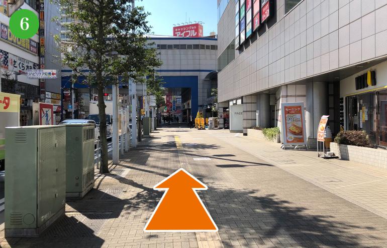 そのまま直進150メートルで京成船橋駅に到着です。
